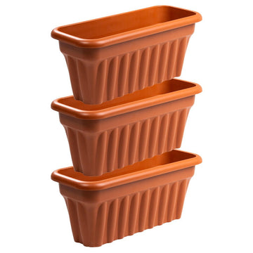 Vista Trough 60cm Terracotta - Pack of 3