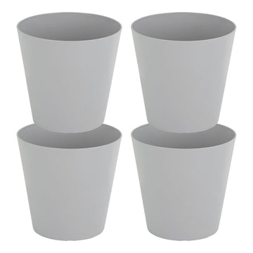 Round Studio Planters 21cm Grey - Pack of 4
