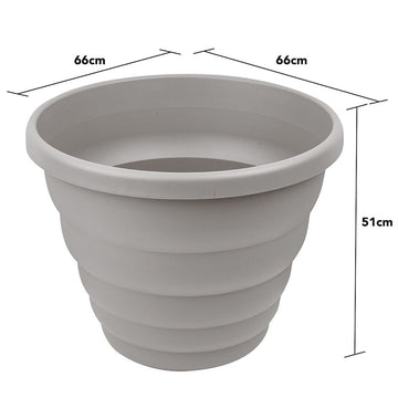 Beehive 66cm Round Planter Upcycle Grey