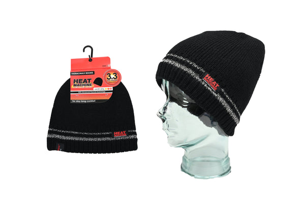Heat Machine 3.3 Tog Beanie Hat - Black