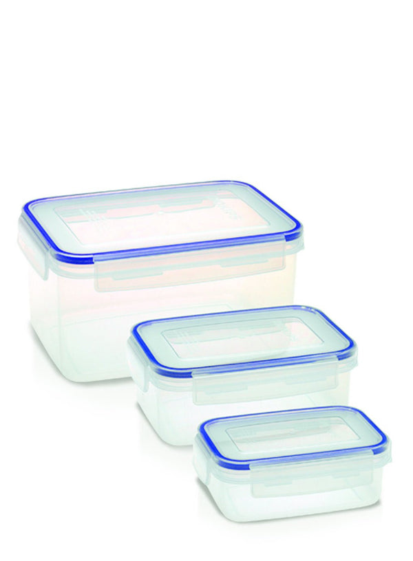 Addis 3Pc Clip And Close Food Storage Container