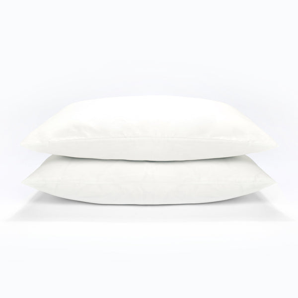 At Home Percale Pair of Pillowcases - White