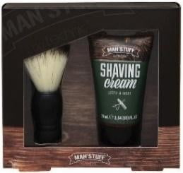 Man Stuff - Close Shave- Brush & Shaving Cream