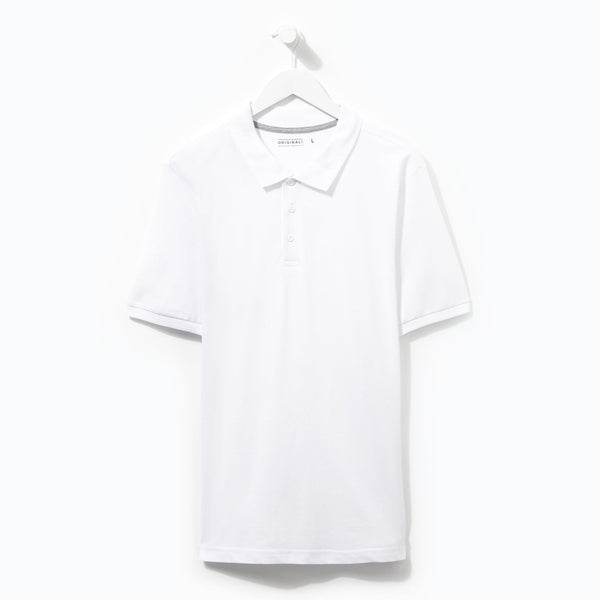 Originals Plain White Polo