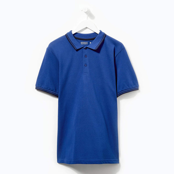 Originals Tipped Royal Polo Double Navy Tip