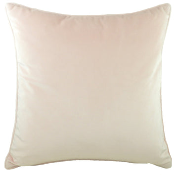 Piped Edge Velvet Cushion - Blush Pink