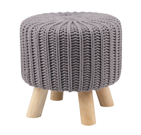 Knitted Foot Stool