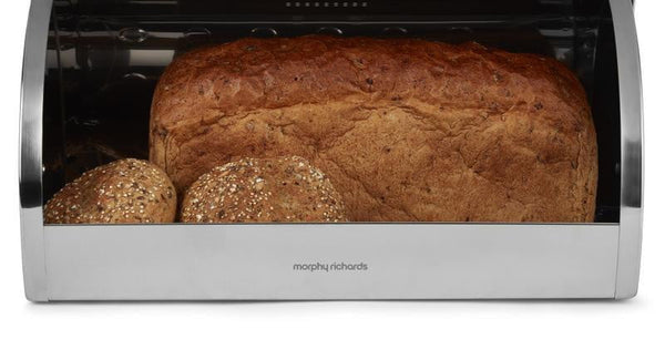 Morphy Richards Dune Roll Top Bread Bin Black