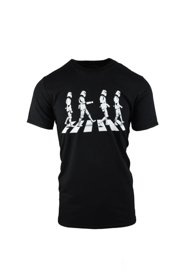 Stormtrooper Crossing Black T-Shirt