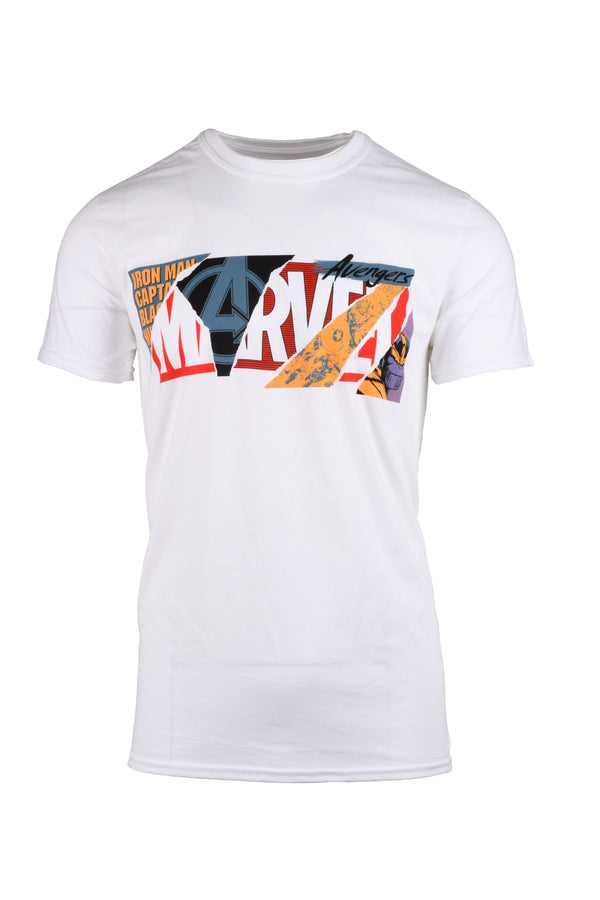 Marvel Torn Logo White T-Shirt