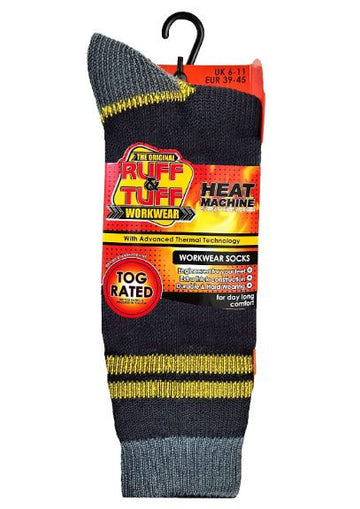 Heat Machine Socks - Black/Yellow