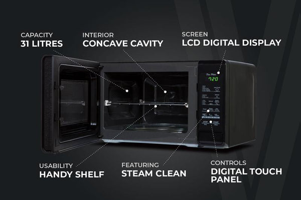 Tower Touch Control Microwave