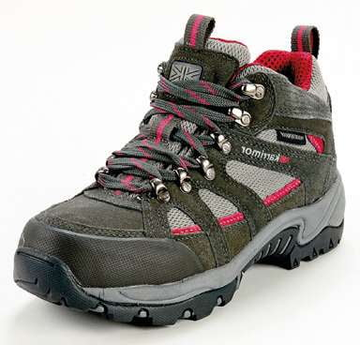Karrimor Hiking Boots Grey/Cochineal