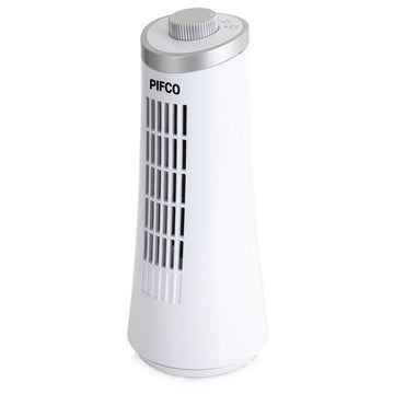 "Pifco 12"" Manual Tower Fan White"