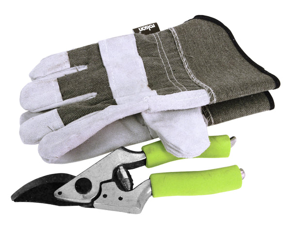 Rolson Secateurs & Rigger Glove Set