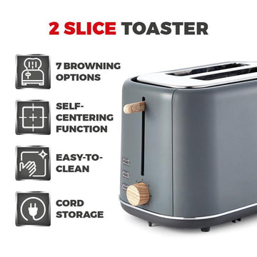 Tower Scandi 800W 2 Slice Toaster