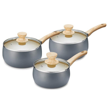 Tower Scandi 3 Piece Saucepan Set