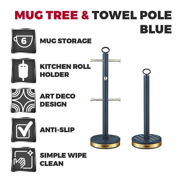 Tower Empire 6 Cup Mug Tree And