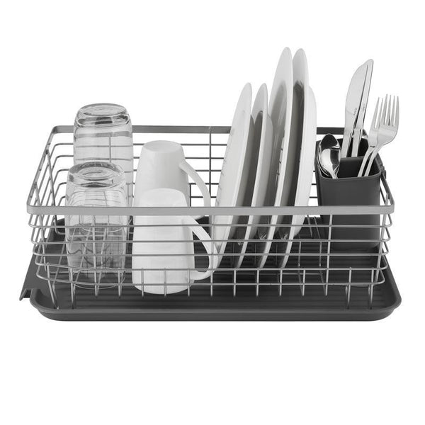 Tower Compact Dishrack with  Cutlery Grey