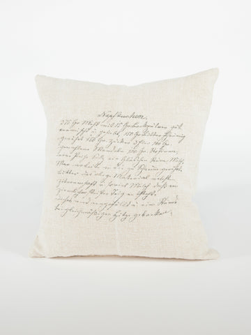 German Recipe Pillow