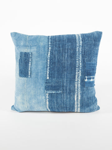African Indigo Patch Pillow