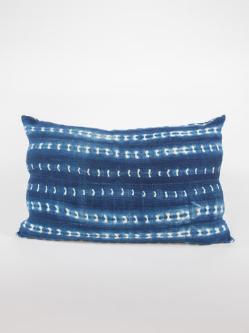 African Indigo Rectangle Pillow