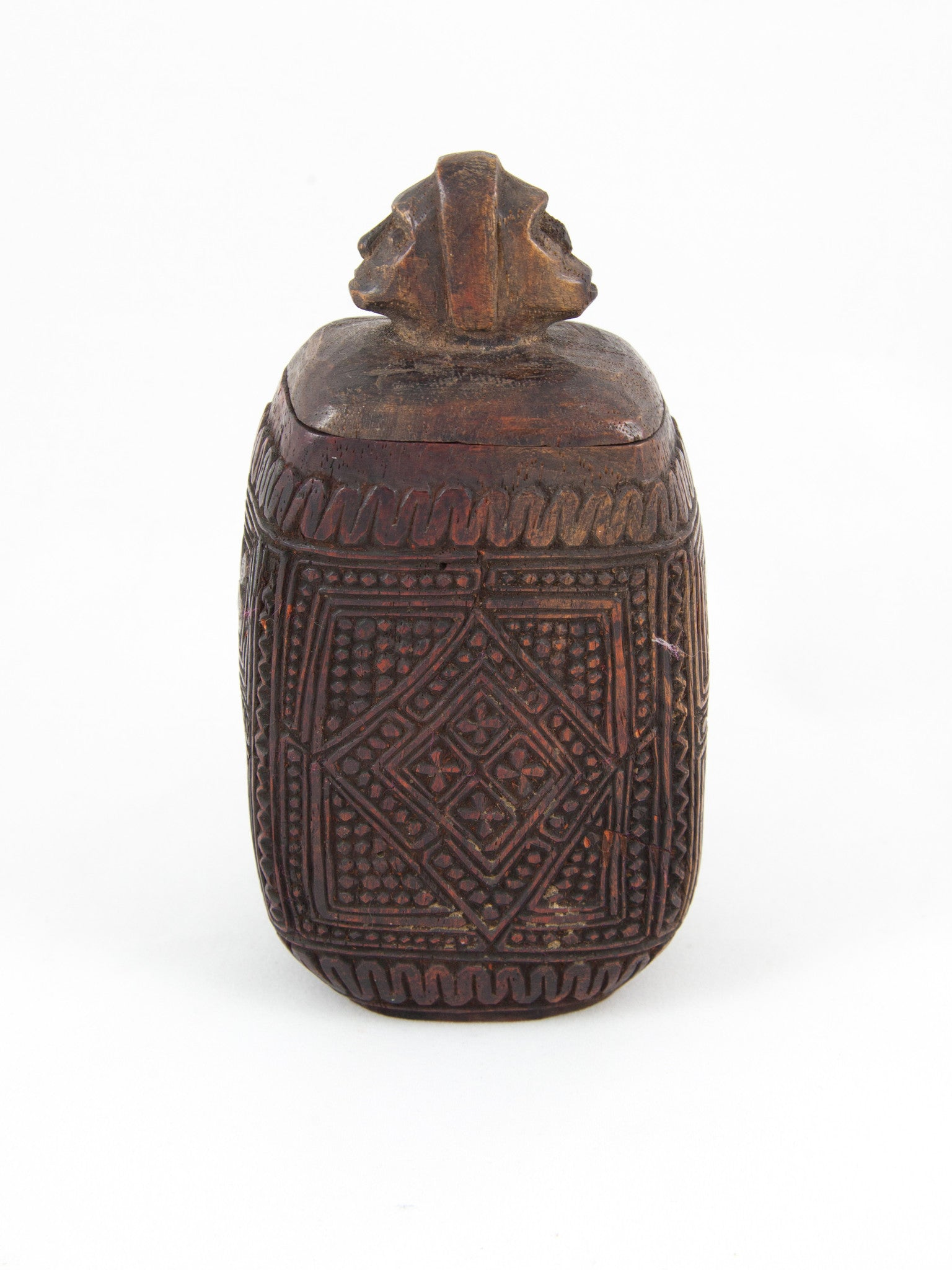 Carved Wood Container