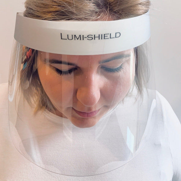 MEDICAL GRADE Visor - EXTRA WIDE with replaceable foam