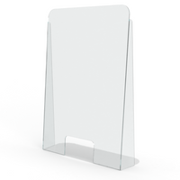 "•	Create a clear shield when in close proximity to another person •	5""H x 10""W pass-through window •	Easily installs on any flat surface, no assembly required •	Double-sided tape to secure in place •	Made with food-safe plastic •	Easy to clean •	Virtually unbreakable •	For Custom Shields please call 800-268-7744 or 416-756-3600"