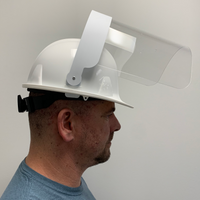 Hard Hat Splatter Visor - Hard Hat included