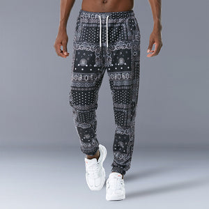 Men Retro Print Fashion Pants