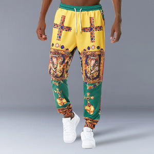 Men Tether Palace Vintage Print Pants