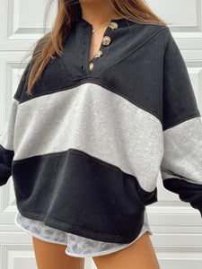 basic casual long sleeve sweatshirt