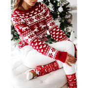 Women'S Christmas Knitted Snowflake Long Sleeve Sweater