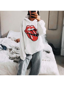 Women's Casual Round Neck Long Sleeve Printed Color Sweatshirt