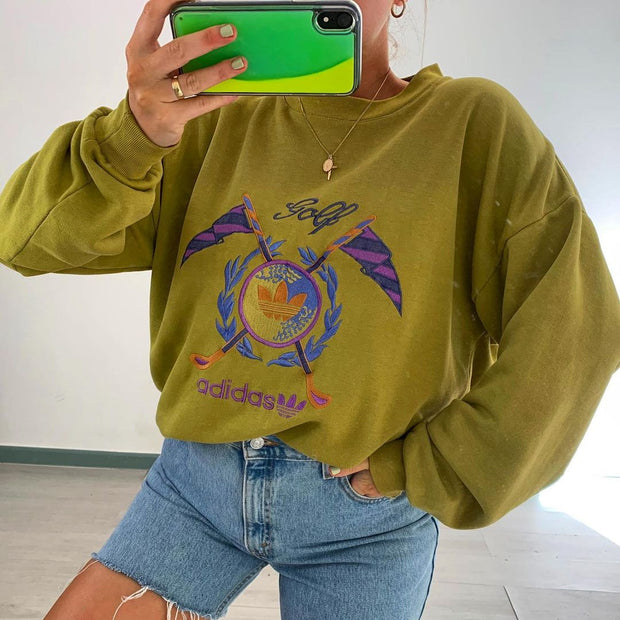 Women'S Solid Color Oversized Long Sleeve Sweatshirt