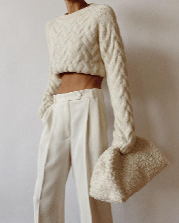 Women'S Fashion Knitted Sweater Suit