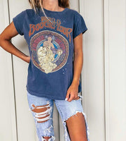 Casual Loose Print Short Sleeve T-Shirt