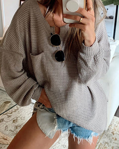 Women'S Long Sleeve Knit Casual Sweater