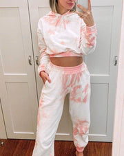 Women's Tie-Dye Corset Loose Home Casual Sets