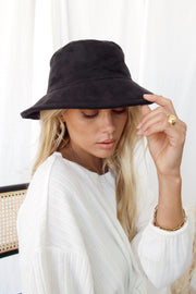 Women'S Fashion Trendy All-Match Vegan Suede Bucket Hat
