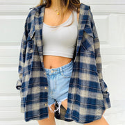 Women'S Fashion Casual Check Cardigan Coat