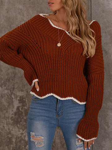 Women'S Petal Flared Sleeve Sweater
