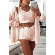 Women'S Three-Piece Loose Plush Suit