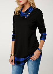 Women'S Long Sleeve Button Detail T-Shirt