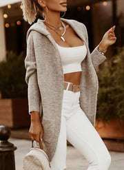 Women'S Autumn/Winter Knitted Slim-Fit Loose Collar Coat