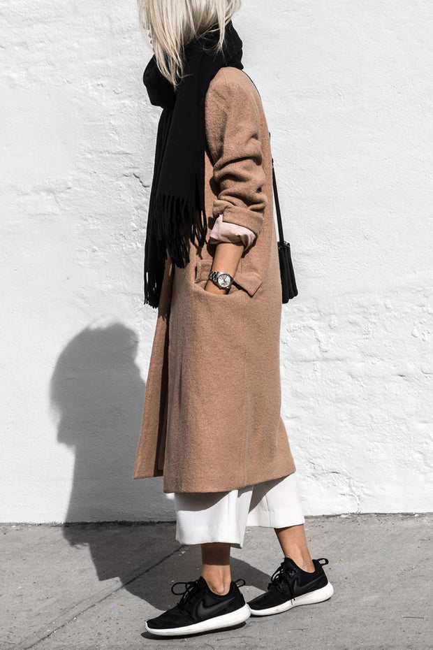 Women'S Fashion Khaki Plus Coat