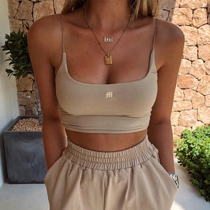 Women Sexy Fashion Slim Crop tops