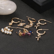Fashion Asymmetrical Earring Set