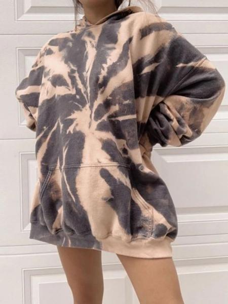 WOMENS FASHION CASUAL LOOSE TIE-DYE SWEATER